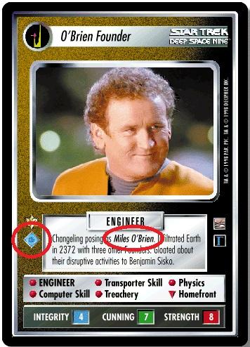 VOY THE ARTIFICIAL INTELLIGENCE x2 star trek CCG Losse kaarten spellen